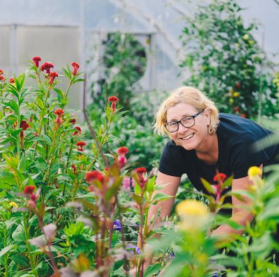 Theresa Schumilas flower farming