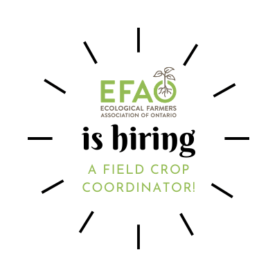 Deadline extended  for EFAO Field Crop Coordinator position