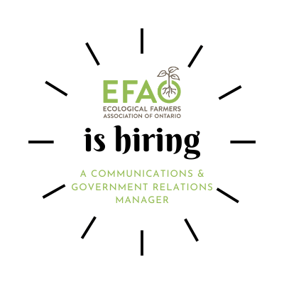 EFAO is hiring a Communications & Government Relations Manager